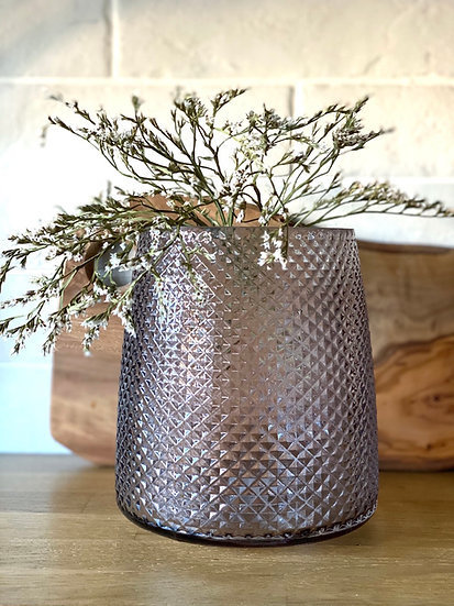 Marley quilted vase