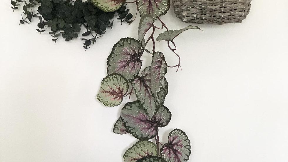 Faux trailing begonia pink/green