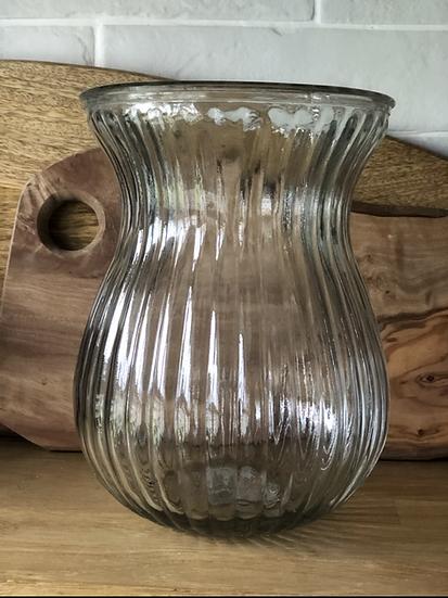 Ribbed tulip vase