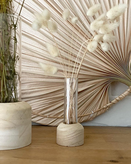 Smaller wooden based vase
