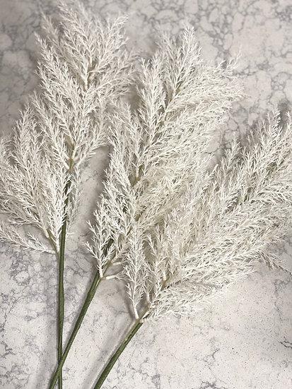 Faux white pampas stem