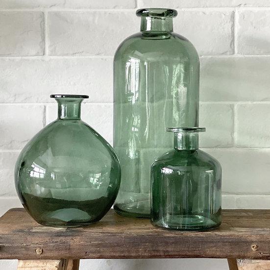 Smaller smoked green vase (bottom right)