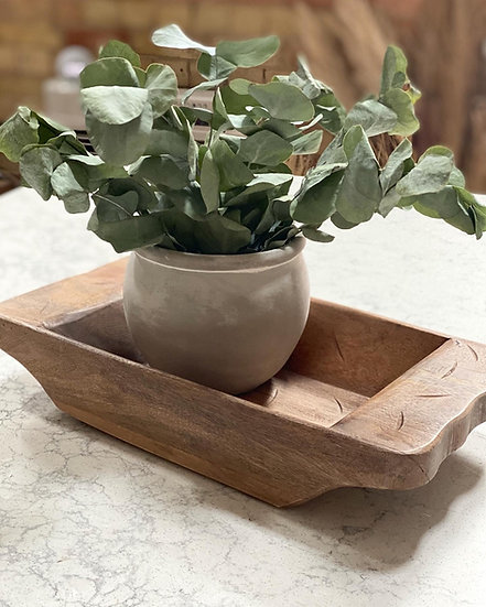 Large Wooden dough bowl