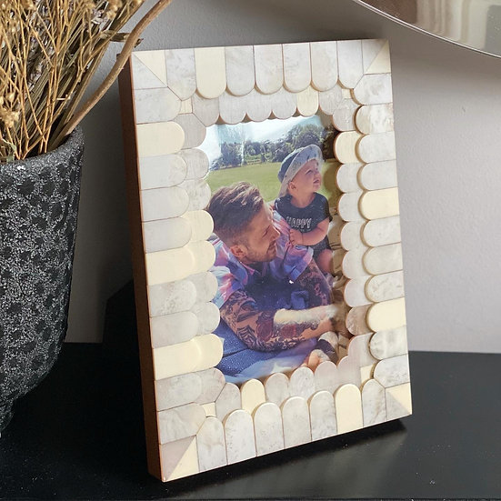 Acrylic bohemian style photo frame