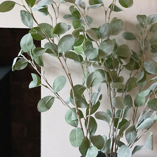Chalky green eucalyptus faux stems