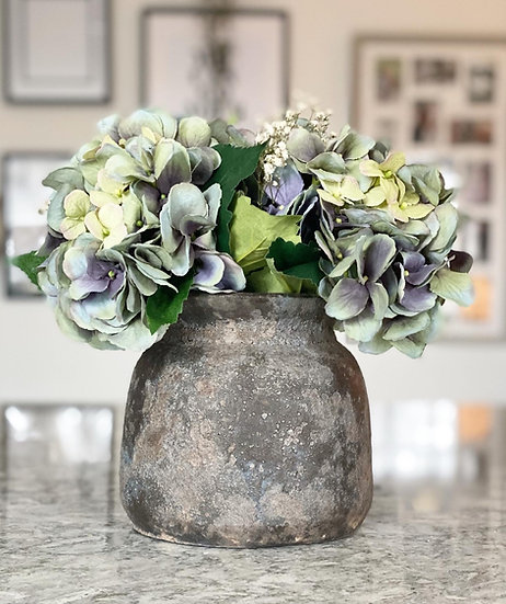 Grey Bali vase