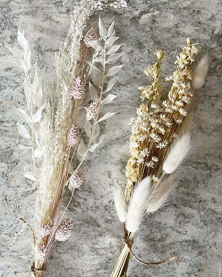 Super Mini star grass and pink phalaris bouquet (left)