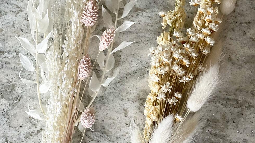 Super Mini star grass and pink phalaris bouquet