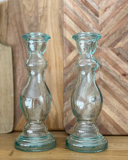 Single glass candle stick