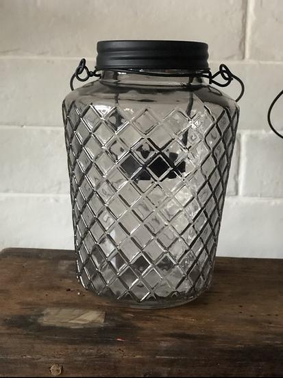 Diamond smoked lantern