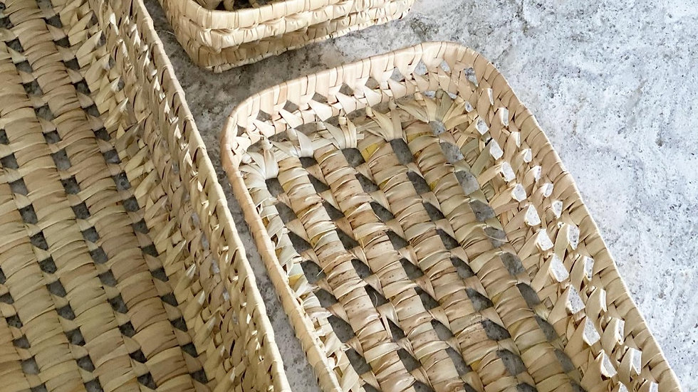 Seagrass woven baskets