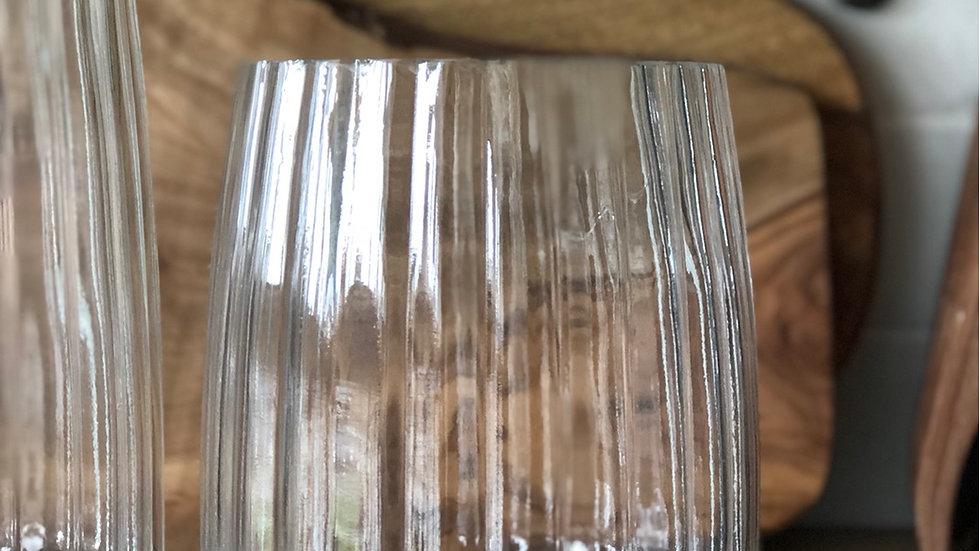 Medium fluted glass vase
