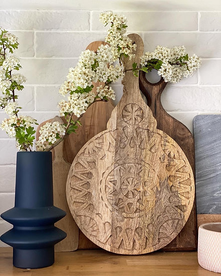 Carved bohemian serving board