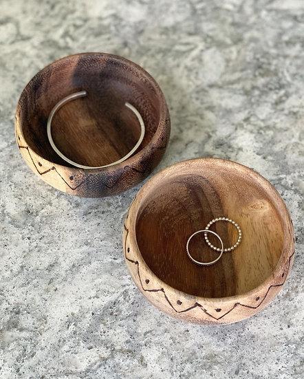 Acacia wooden mini bowl