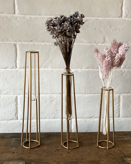 Gold silhouette vase (sold individually)