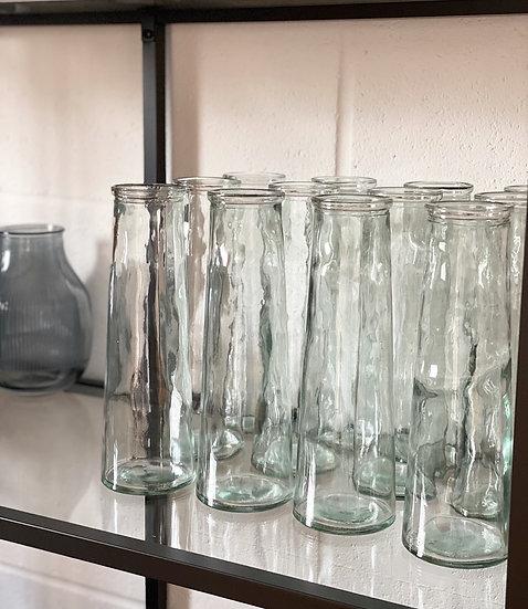 Recycled glass mottled glass  vase