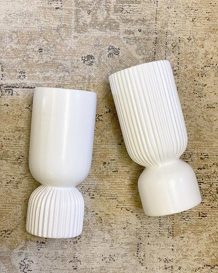 Bailey white vase