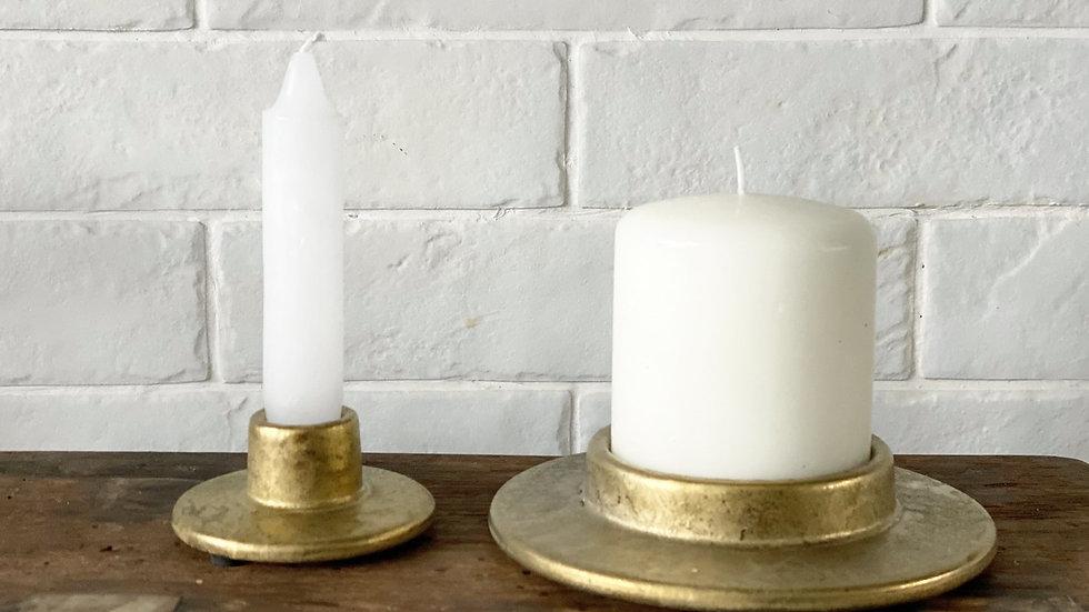 Larger gold candle base