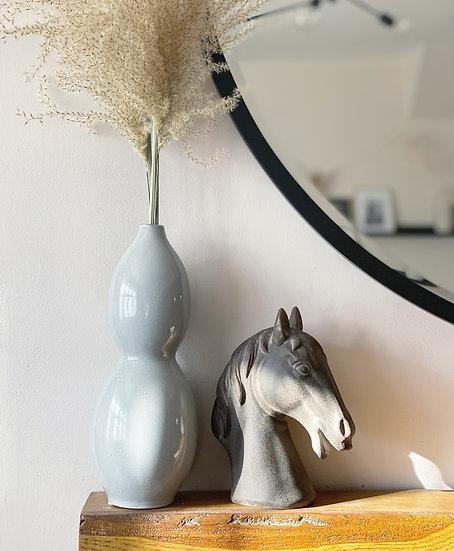 Stoneware horse ornament