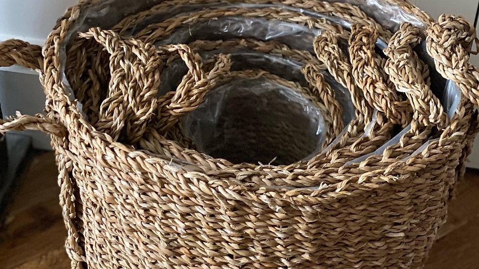 1- smallest woven basket