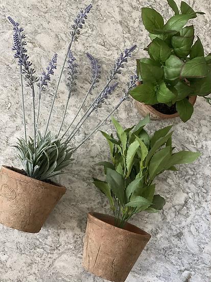 Faux large lavender, mint or basil plants