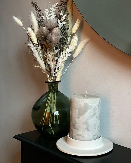 White candle holder base