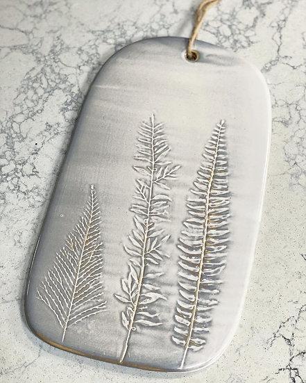 Large stoneware fern serving board
