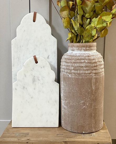 Scalloped marble boards