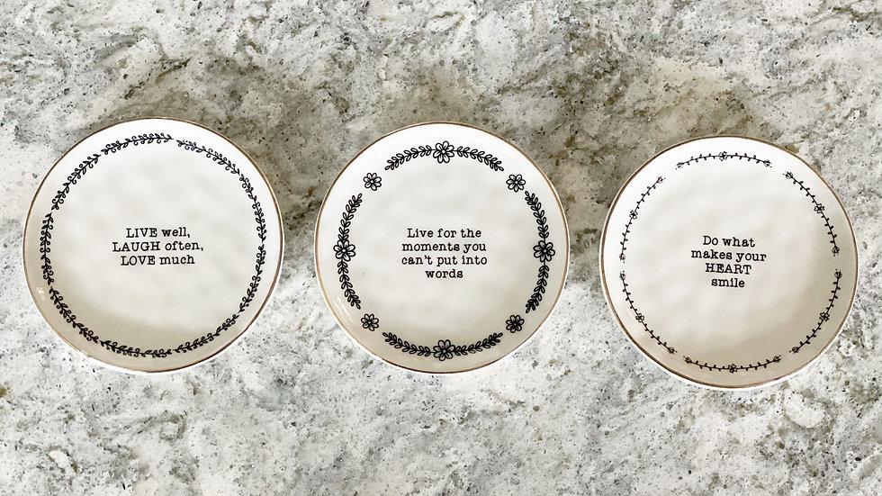 Set of 3 trinket dishes