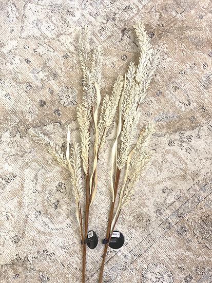 Faux white grass stem