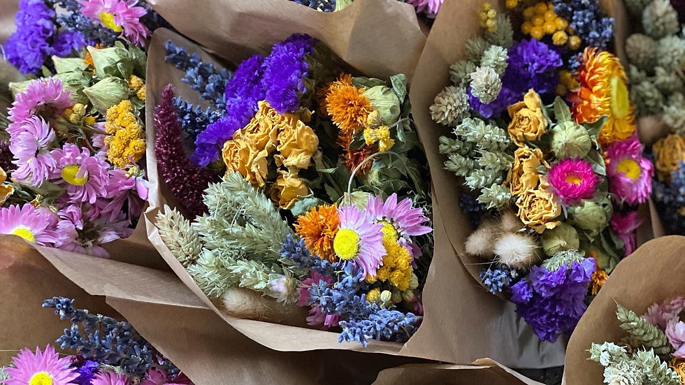 Small lavender & wildflower preserved and dried bouquet