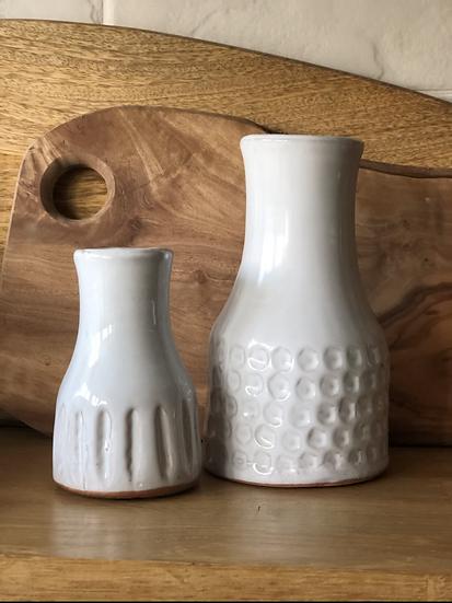 Smaller white stoneware vase