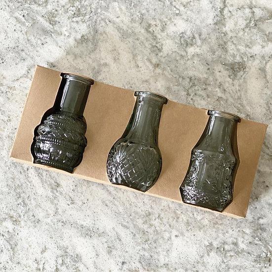 Set of 3 mini bud vases