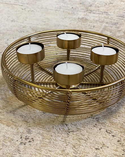 Gold fillable candle holder