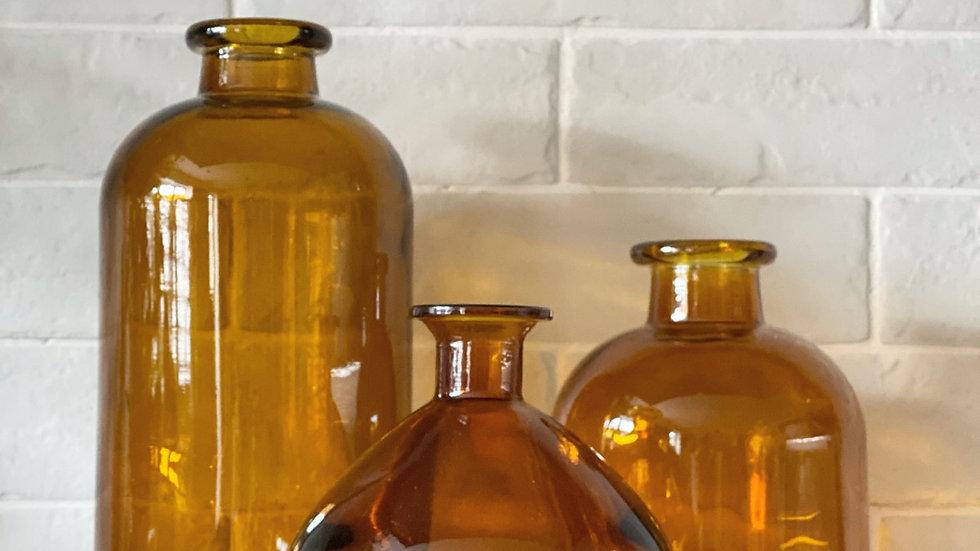 Brown smoked vases