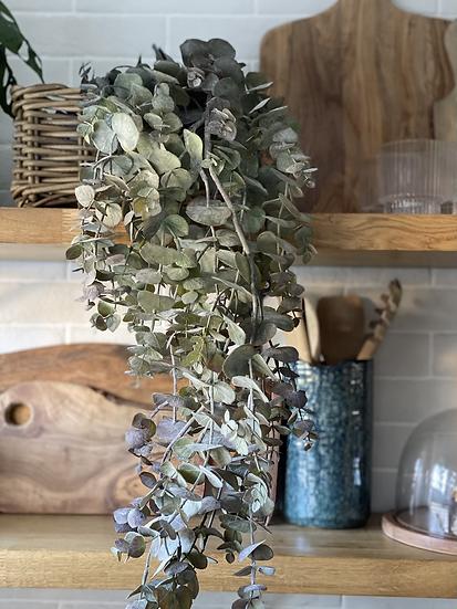 120cm faux burgundy green faux eucalyptus trailing plant