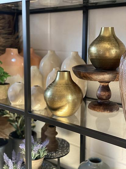 Gold dimpled vase