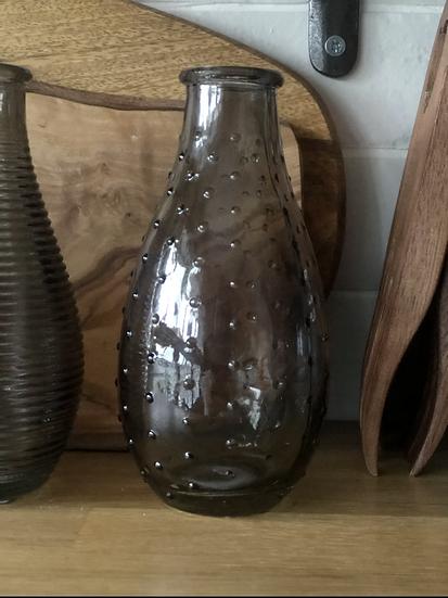 Polka dot smoked bud vase