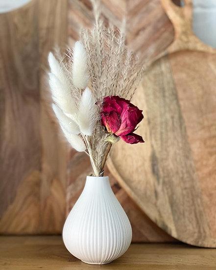 Mini red rose bundle for ceramic bud vases