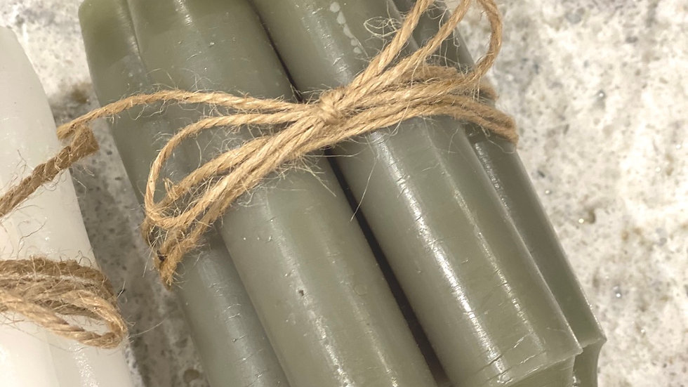 Green set of candles