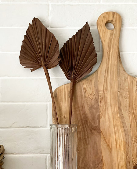 Chocolate brown palm spears (set of two)