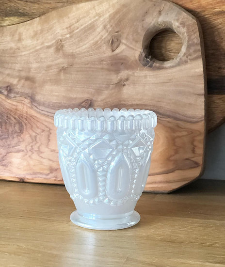 Ania tealight holder pearl 7.5cm tall