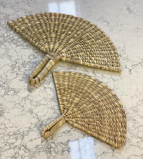 Woven fan decoration