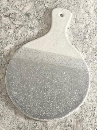 Grey ceramic tray