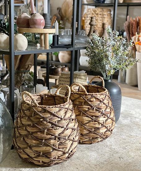 Maura woven floor basket