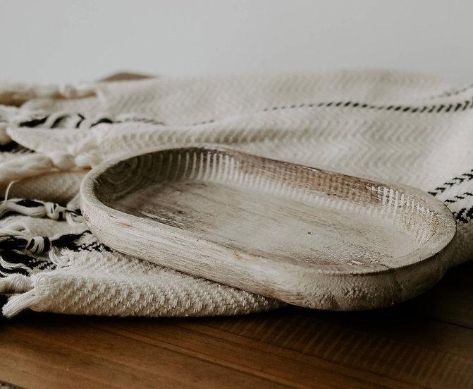 Paulownia rustic wooden dish