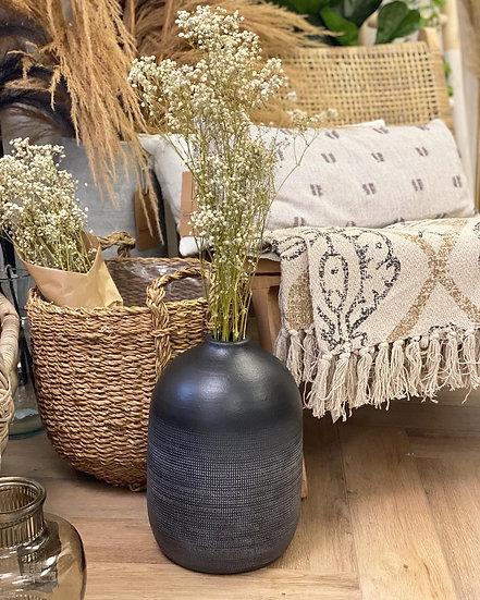 Onyx floor black vase