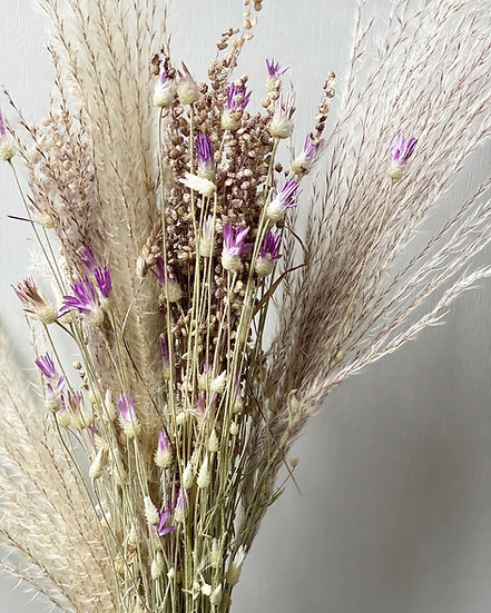 Large silver grass and papyrus bouquet