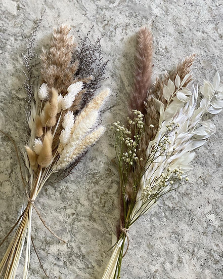 Mini pampas bouquet for tall bud vases
