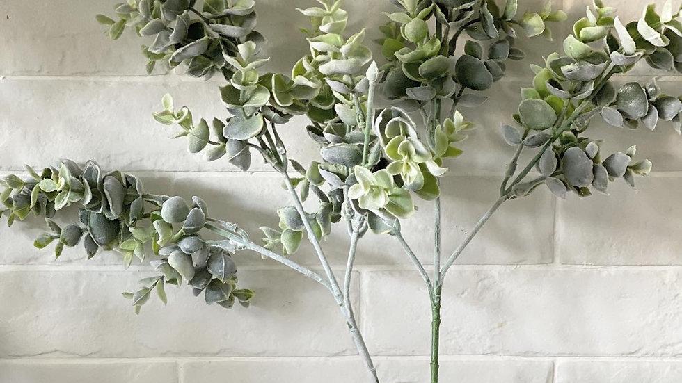A faux eucalyptus baby blue stem
